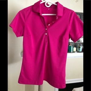 Nike Golf Tour Performance Dri Fit Top Pink S